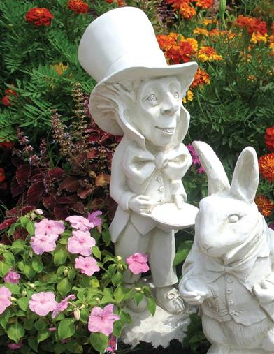 Mad Hatter Statue (White Finish)