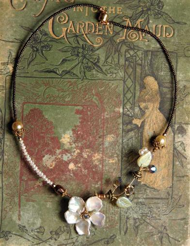 ROBIN GOODFELLOW FRESHWATER PEARL FLOWER NECKLACE