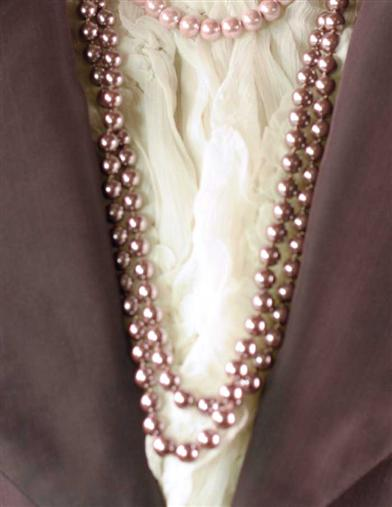 LONG DOUBLE STRAND MAUVE PEARLS