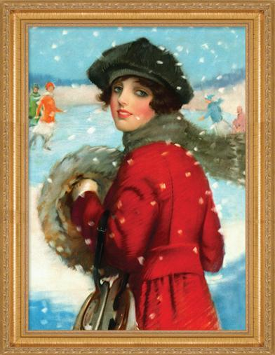 FLURRIES FRAMED PRINT