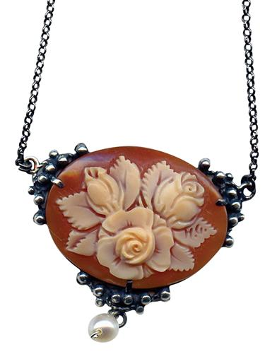 Steampunk Jewelry – Necklace, Earrings, Cuffs, Hair Clips Three Roses Cameo $249.95 AT vintagedancer.com