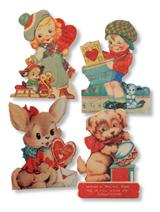 RETRO VALENTINE EASEL BOARDS (SET OF 4)