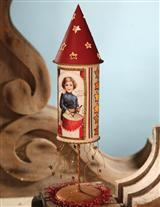 ROCKET'S RED GLARE PIERCED TIN LUMINARY