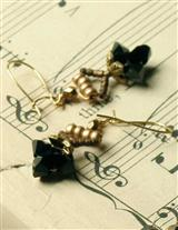 ROBIN GOODFELLOW BLACK ONYX EARRINGS