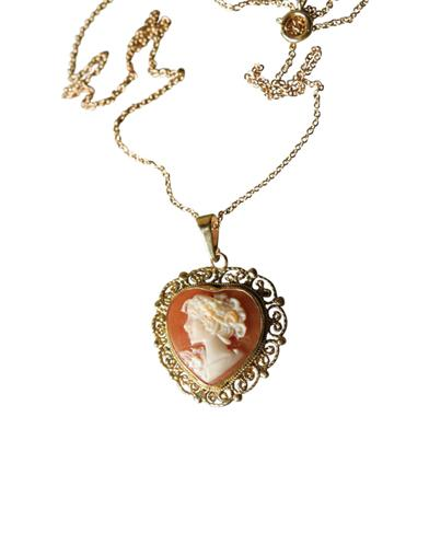 My Heart Cameo Necklace