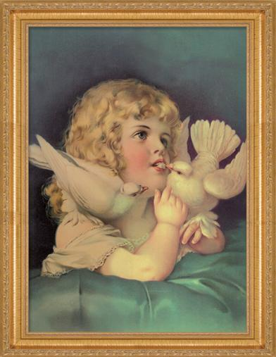 HEAVENLY PEPPERMINTS FRAMED PRINT