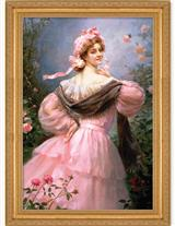 Elegant Woman Framed Print