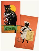 BLACK CAT CAFE TEA TOWELS