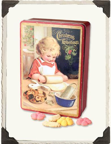 HOLIDAY CUT-OUTS COOKIE TIN