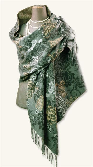 CASHMINK WRAP (BLACK & TAN FLORAL)