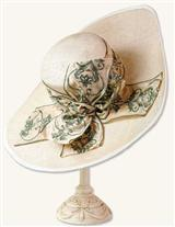 FILIGREE WIDEBRIM STRAW HAT