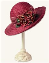 HEIRLOOM ROSES STRAW WIDEBRIM
