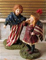 PATRIOTIC FIGURINES (TANNER & HALEY)