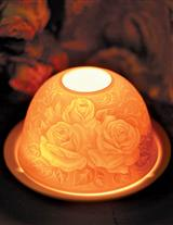 OLD ROSES LITHOPHANE