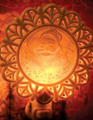 ST NICHOLAS LITHOPHANE  NIGHTLIGHT