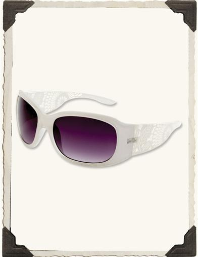 FILIGREE SUNGLASSES (WHITE)