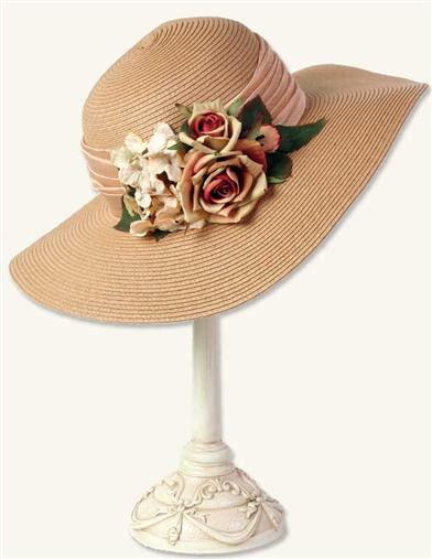 SORGHUM HEIRLOOM ROSES STRAW HAT