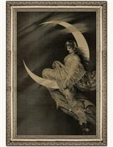MOON FAIRY FRAMED PRINT (SILVER)
