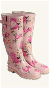 BLUSHED ROSE WELLIES