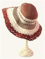 PACKABLE LACE HAT (BROWN)