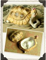 RISQUE BISQUE TURTLE WHIMSY