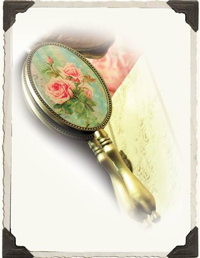 ROSES HAND MIRROR