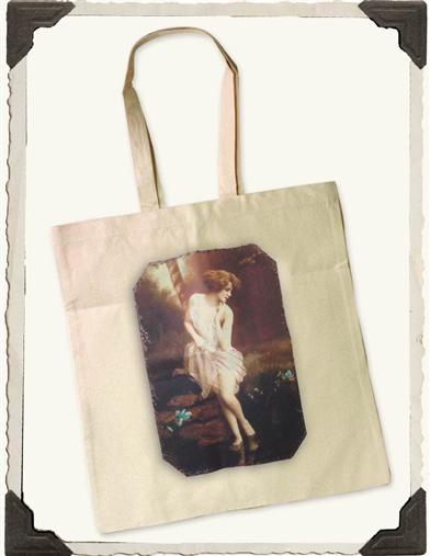 LADY OF THE LAKE COTTON TOTE