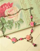 RETRO ROSES NECKLACE