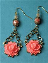 RETRO ROSES EARRINGS