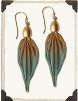 ETERNAL ORCHID METAL MESH EARRINGS