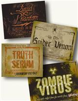 SODA HALLOWEEN LABELS (SET OF 8)