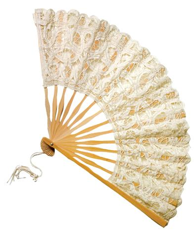 Vintage Style Parasols and Umbrellas Lace Fan Ivory $19.95 AT vintagedancer.com