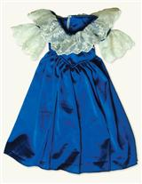 YOUNG VICTORIA'S SAPPHIRE PARLOUR DRESS