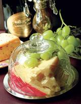 CUT GLASS CHEESE DOME
