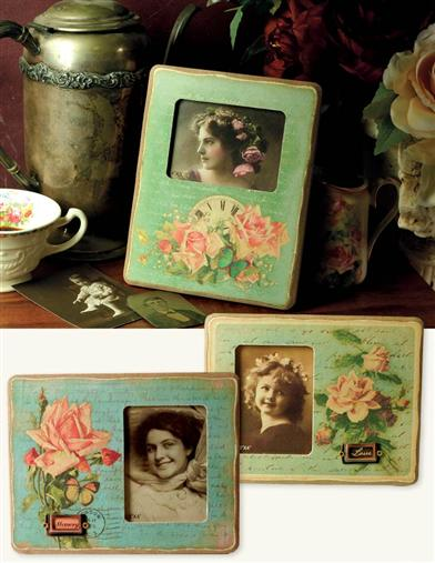 FOREVER ROSE PHOTO FRAMES (SET OF 3)