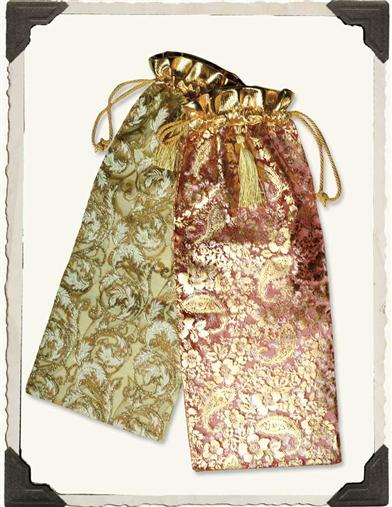 GOLD LACE SHIMMERING POUCHES (SET OF 8)