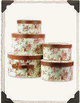 FLORAL HATBOXES (SET OF 5)