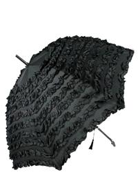 Can-can Lace Umbrella (Black Ruffle)