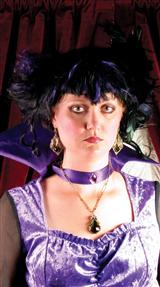 VAMPIRA PURPLE AND BLACK WIG