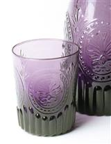 AMETHYST GLASS TUMBLERS (PAIR)