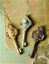 OLD ST NICK KEY ORNAMENTS (SET OF 3)