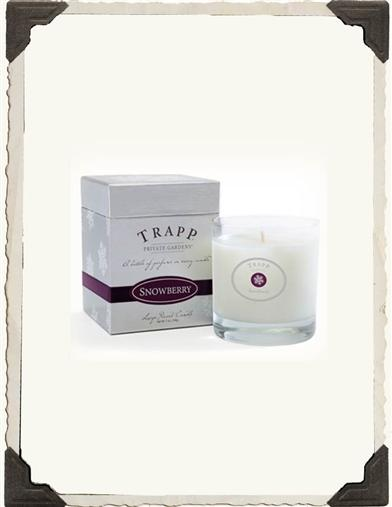 TRAPP HOLIDAY CANDLE (SNOWBERRY)