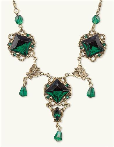 DUBLINER FAUX EMERALDS NECKLACE