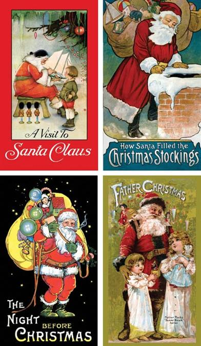 ANTIQUE REPRINTS HOLIDAY BOOKS (SET OF 4)