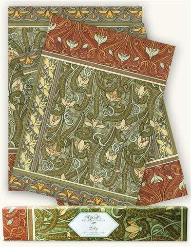 PERFUMED DRAWER LINERS (ART NOUVEAU - LILY)