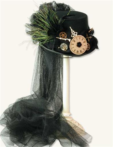 NEW YEARS BLACK STEAM PUNK HAT