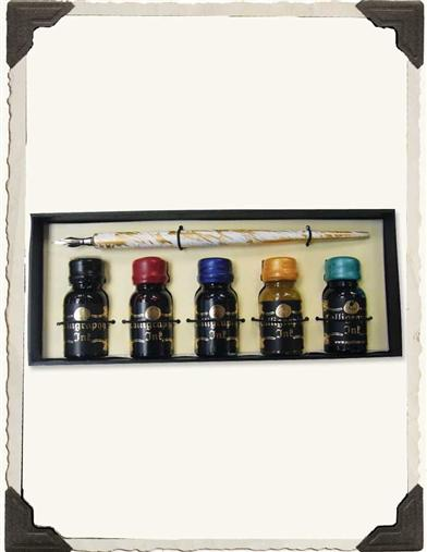 PRISM INKS & WOODEN DIP PEN