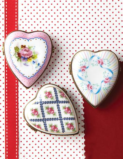 JE T'AIME PORCELAIN HEARTS (SET OF 3)