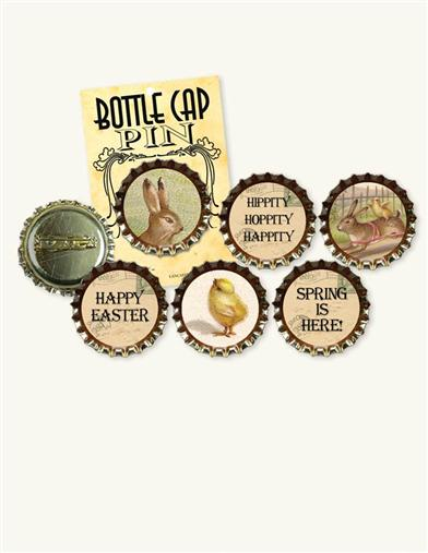 EASTER BOTTLECAP PINS
