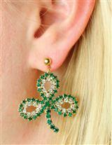 CRYSTAL SHAMROCK EARRINGS